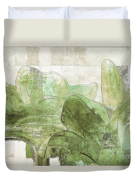 Duvet Cover featuring the digital art Gerberie - 30gr by Variance Collections