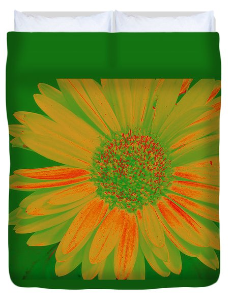 Gerbia Daisy Sabattier Duvet Cover by Bill Barber