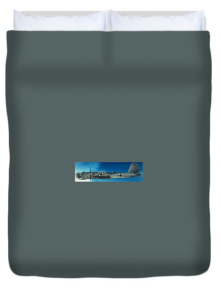 German Aircraft Of World War  Two Focke Wulf Condor Bomber Duvet Cover
