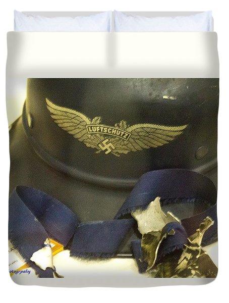 German Army Helmet Duvet Cover