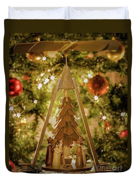 German Christmas Pyramid Duvet Cover