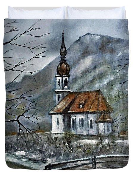 German Church At Ramsau  Duvet Cover