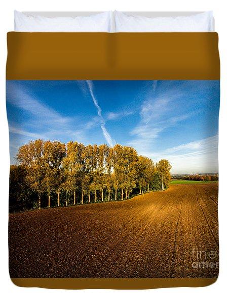 Fields From Above Duvet Cover