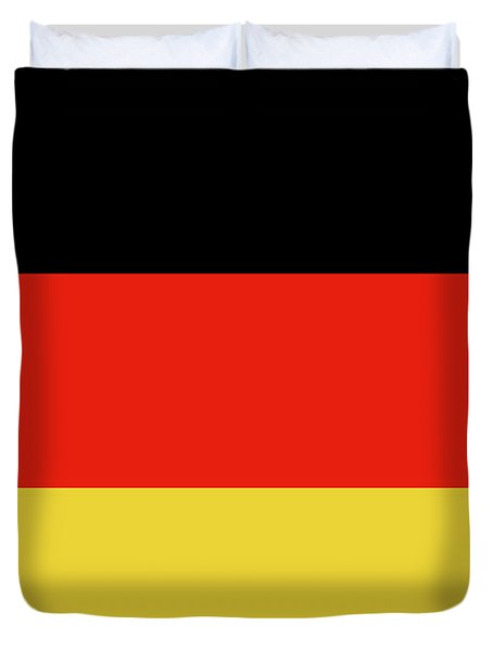 Duvet Cover featuring the digital art German Flag by Bruce Stanfield