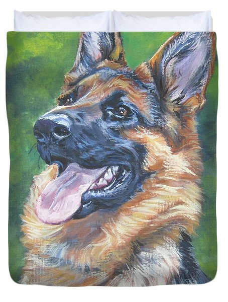German Shepherd Head Study Duvet Cover