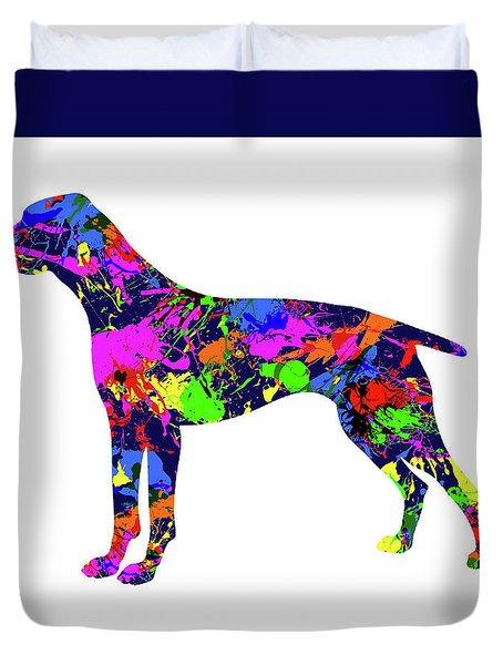 German Shorthaired Pointer Paint Splatter Duvet Cover
