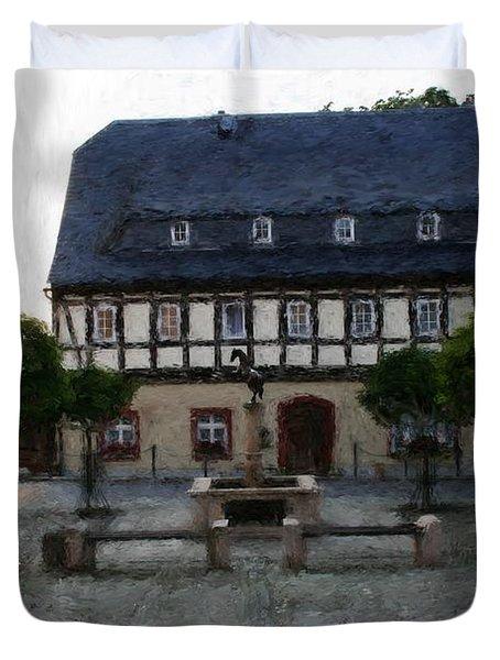 German Town Square Duvet Cover