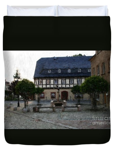 German Town Square Duvet Cover