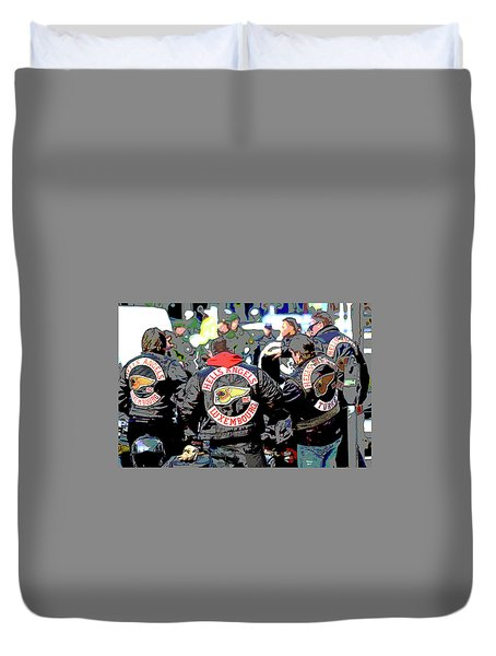 Germany Trial Hell Angels Motorcycle Club Duvet Cover