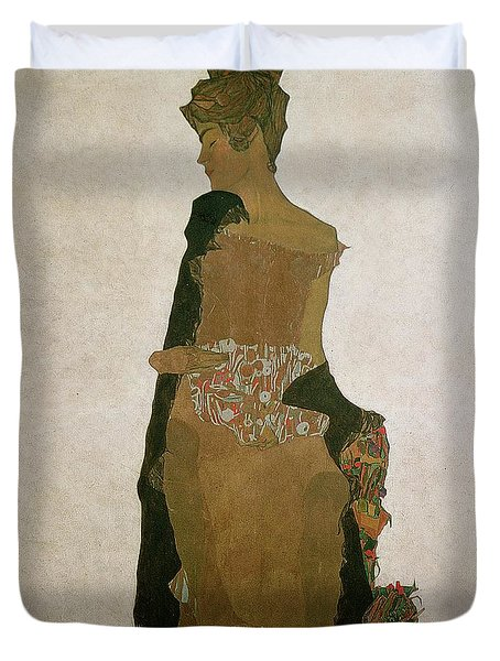Gerti Schiele Duvet Cover by Egon Schiele