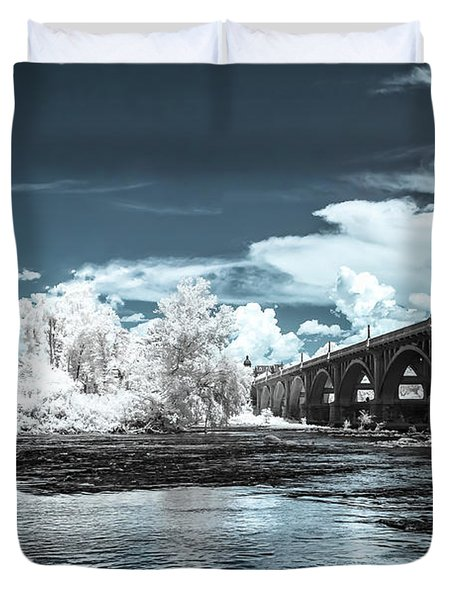 Gervais St. Bridge-infrared Duvet Cover