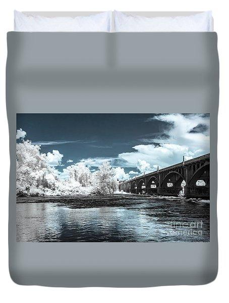Gervais St. Bridge-infrared Duvet Cover