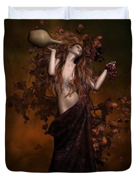 Geshtinanna Goddess Of Grape Vine Duvet Cover