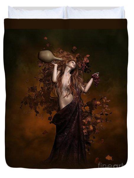 Geshtinanna Goddess Of Grape Vine Duvet Cover by Shanina Conway