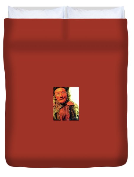 Gestures Of Dignity And Grace Duvet Cover