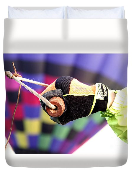 Get A Grip Duvet Cover