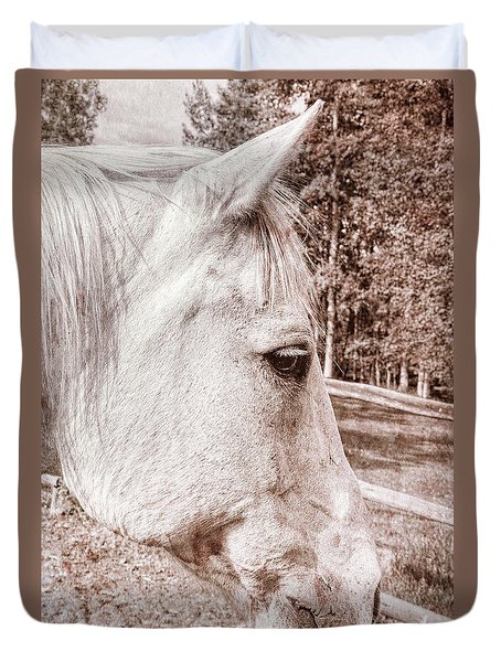 Get My Good Side, Please Duvet Cover