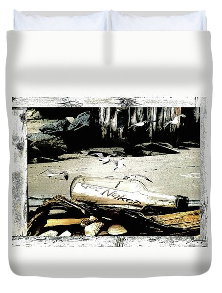 Get Naked  Duvet Cover