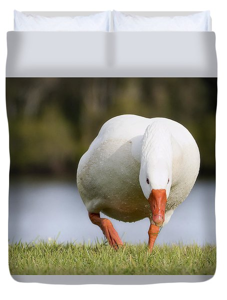 Duvet Cover featuring the photograph Get Out Of My Way 01 by Kevin Chippindall