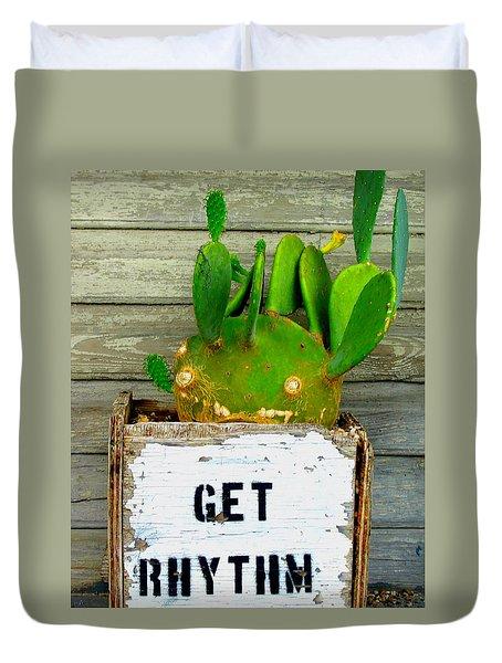Get Rhythm Duvet Cover