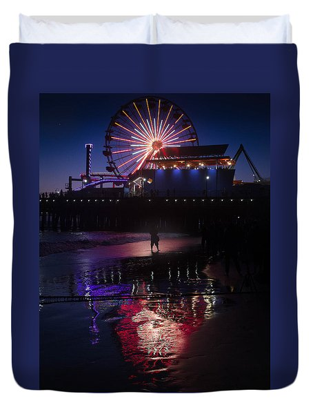 Duvet Cover featuring the photograph Get The Shot by Lora Lee Chapman