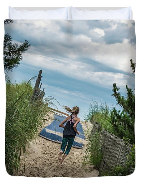Get To The Beach Duvet Cover