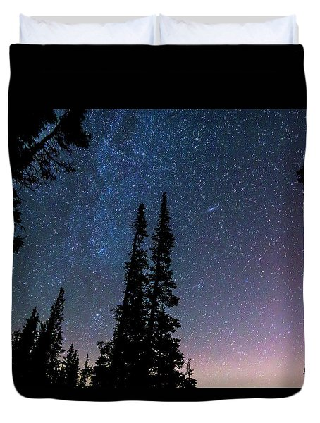 Duvet Cover featuring the photograph Getting Lost In A Night Sky by James BO Insogna