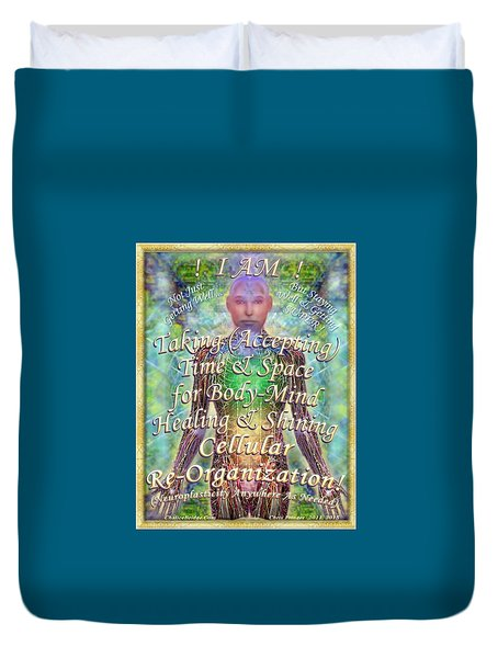 Getting Super Chart For Affirmation Visualization V2 Duvet Cover