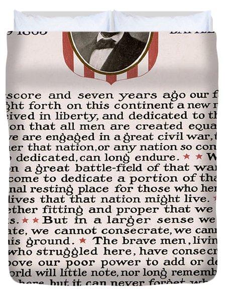 Gettysburg Address Duvet Cover by International  Images