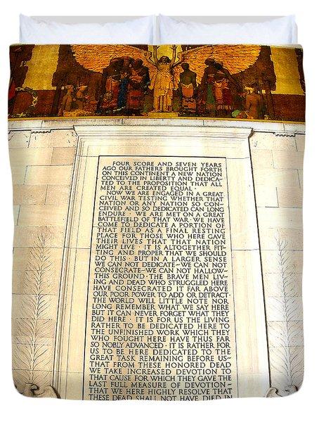 Gettysburg Address Duvet Cover
