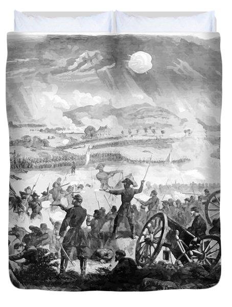 Gettysburg Battle Scene Duvet Cover by War Is Hell Store