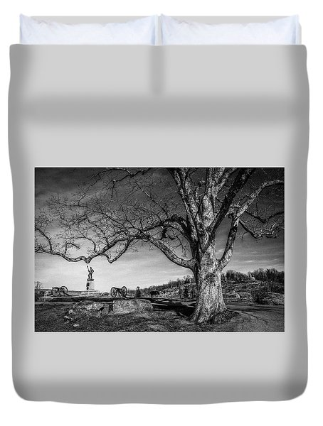 Gettysburg Below Little Round Top Duvet Cover