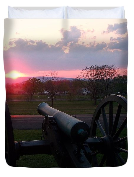 Gettysburg Cannon Duvet Cover by Eric  Schiabor