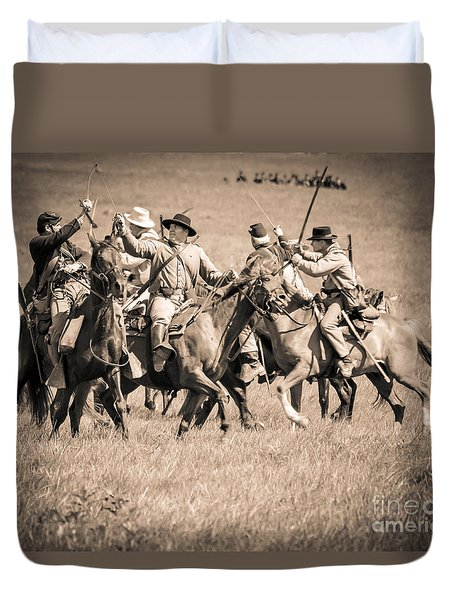 Gettysburg Cavalry Battle 7948s  Duvet Cover