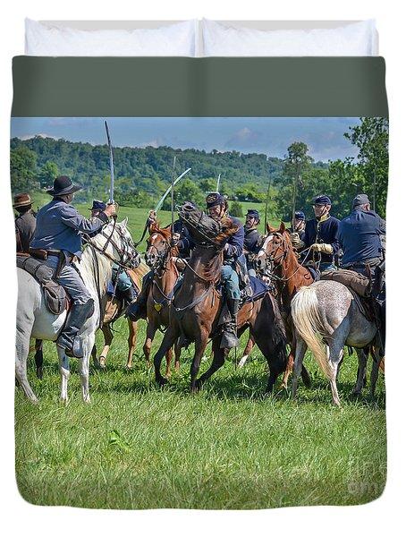 Gettysburg Cavalry Battle 7970c  Duvet Cover