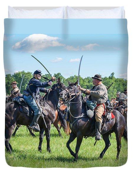 Gettysburg Cavalry Battle 7978c  Duvet Cover