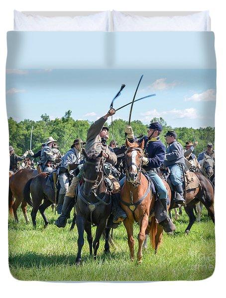 Gettysburg Cavalry Battle 7992c  Duvet Cover