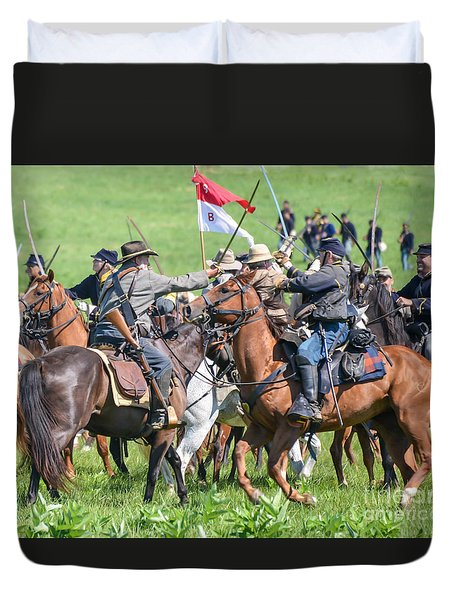 Gettysburg Cavalry Battle 8021c  Duvet Cover