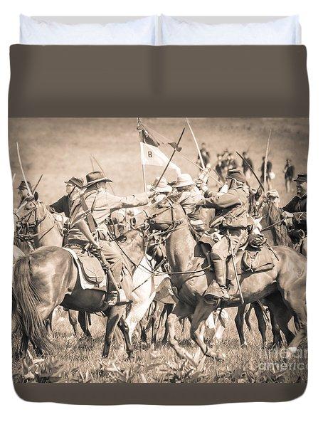 Gettysburg Cavalry Battle 8021s  Duvet Cover
