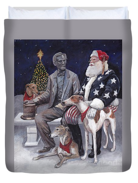 Gettysburg Christmas Duvet Cover by Charlotte Yealey