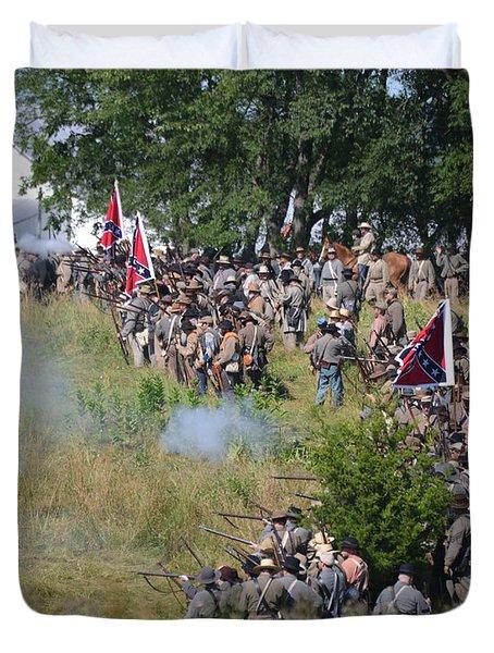 Gettysburg Confederate Infantry 8825c Duvet Cover