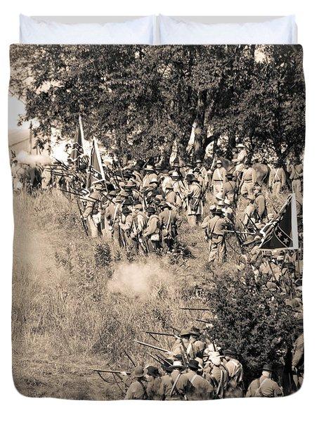Gettysburg Confederate Infantry 8825s Duvet Cover