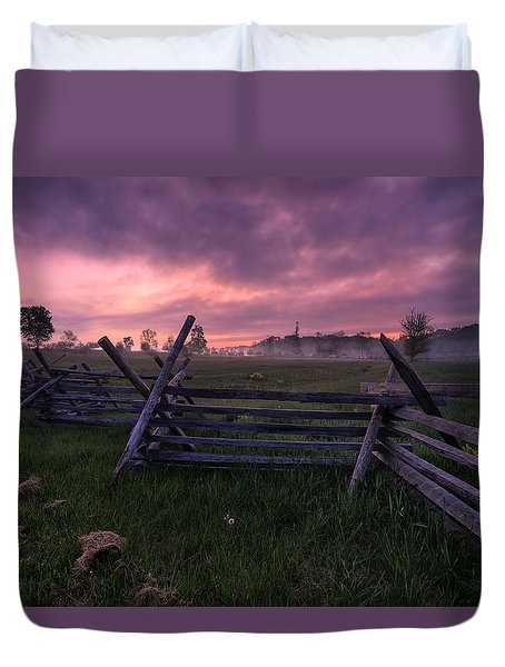 Gettysburg Mornings... Duvet Cover by Craig Szymanski