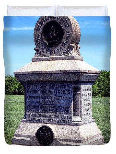 Gettysburg National Park 80th Ny Infantry Militia Memorial Duvet Cover