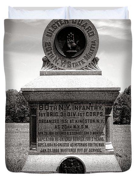 Gettysburg National Park 80th New York Infantry Militia Monument Duvet Cover