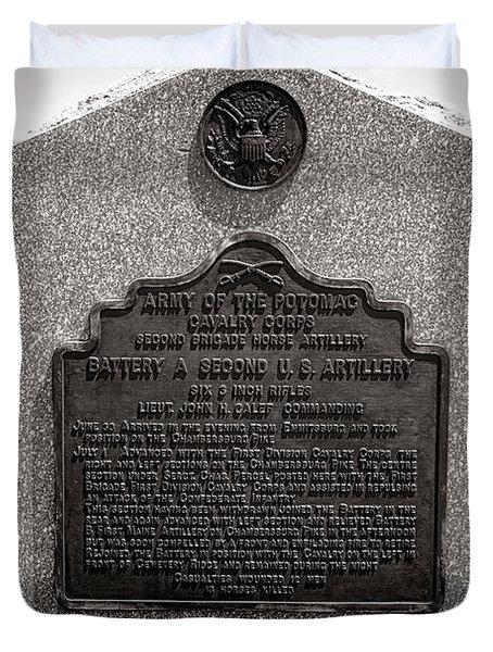 Gettysburg National Park Army Of The Potomac Second Brigade Horse Artillery Duvet Cover