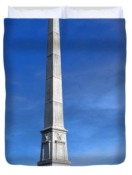 Gettysburg National Park United States Army Regulars Memorial Duvet Cover