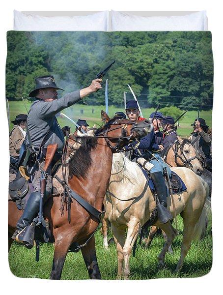 Gettysburg  Union Cavalry 7920c  Duvet Cover