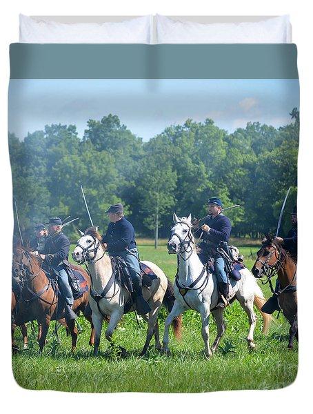 Gettysburg  Union Cavalry Duvet Cover