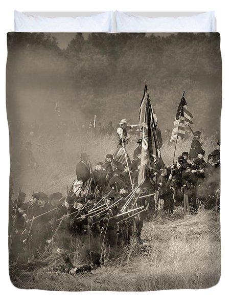 Gettysburg Union Infantry 8947s Duvet Cover